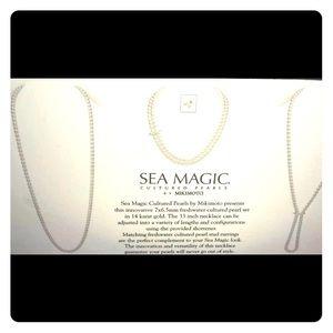 Mikimoto 14k white gold pearl set